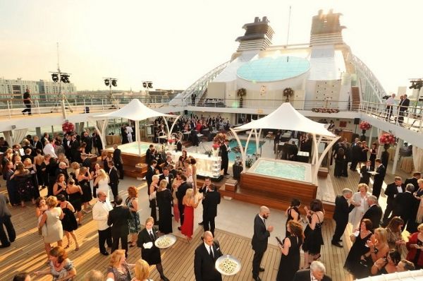 Seabourn Sojourn Inaugural Events : Naming Ceremony